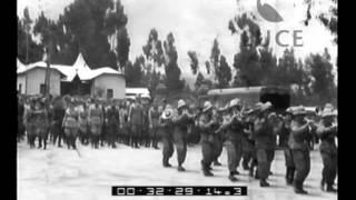 Sfilate Di Reparti Delle Truppe Coloniali Italiane Davanti A Graziani.