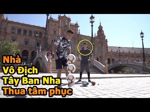 Thử Thách Bóng Đá Đỗ Kim Phúc Việt Nam đánh bại nhà vô địch La Liga với Skills đỉnh như Ronaldinho - Thời lượng: 10:06.