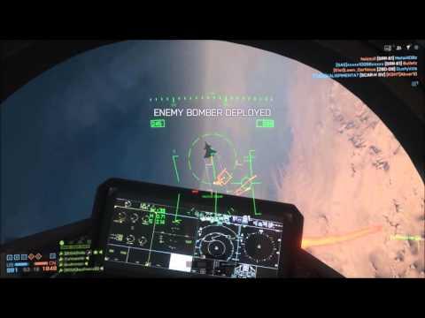 Battlefield 4 F35b in Silk Road dessert map kill streak