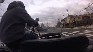 9. Driving a URAL RETRO motorcycle today... has sidecar...