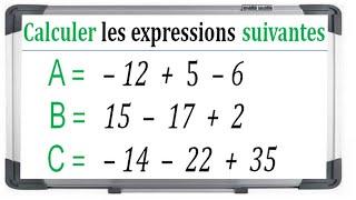 Maths 4ème - Les nombres relatifs en écriture décimale Exercice 2