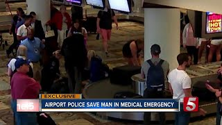 Airport Police Save Man From Medical Emergency