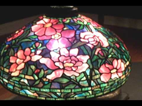 Shelburne Museum, Vt. Louis Comfort Tiffany Lamp Shade Exhibit