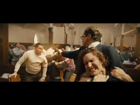 Kingsman church fight clip
