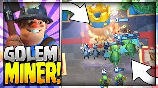 Amazing Golem Miner Hybrid Deck! Beatdown meets control! Golem and Miner Deck for Legendary Arena 11, Hog Mountain Arena 10 and Jungle Arena 9.~~~Free Gems: http://mistplay.co/shane ~~ Invite Code: ShaneWhat do you guys think is the best miner deck? let me know in the comments!Click here to Subscribe: http://www.youtube.com/channel/UCTsFqvFocRsP6YmdzPdHwCw?sub_confirmation=1Follow me on Twitter: https://twitter.com/CLASHwith_SHANEJOIN MY CLANS:Clan 1: CHILLwithSHANEClan 2: CLANwithSHANEIf you enjoyed the video, please like and subscribe. New Clash Royale Content every day!Clash Royale  Clash Royal Gameplay & Strategy  Clash Royale Tips Tricks GuidesIntro Music: Jetta - I'd Love to Change the World (Matstubs Remix)Outro Music: Hey Now by MK2Thanks for watching! Have an awesome day!