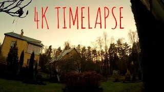 GoPro 4 4K resolution Timelapse Test