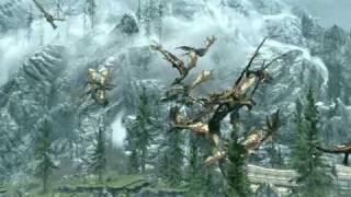 Skyrim Dragon Barrage!