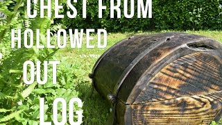 Video Woodworking and Blacksmithing - Chest from Old Hollowed out Log MP3, 3GP, MP4, WEBM, AVI, FLV Januari 2019