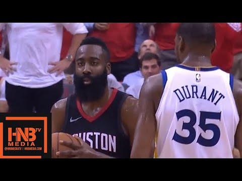Golden State Warriors vs Houston Rockets 1st Half Highlights / Game 2 / 2018 NBA Playoffs