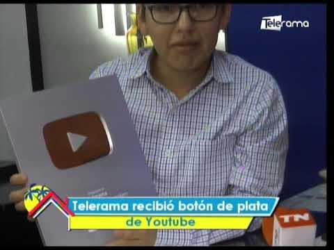 Telerama recibió botón de plata de Youtube