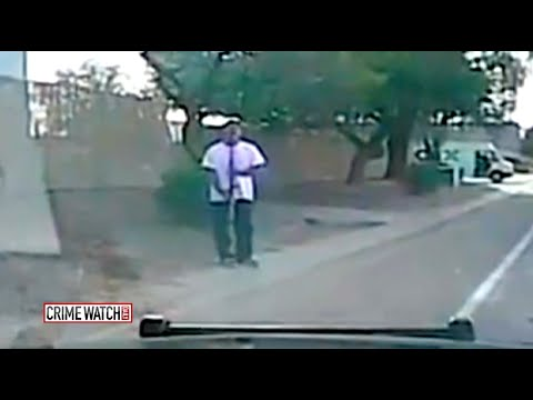 Crime Watch Daily: Gunman Hit by Police Car in Shocking Dashcam Video - CrimeTube
