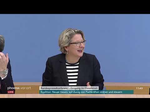Pressekonferenz nach Koalitions-Ausschuss zum Thema Diesel am 02.10.18