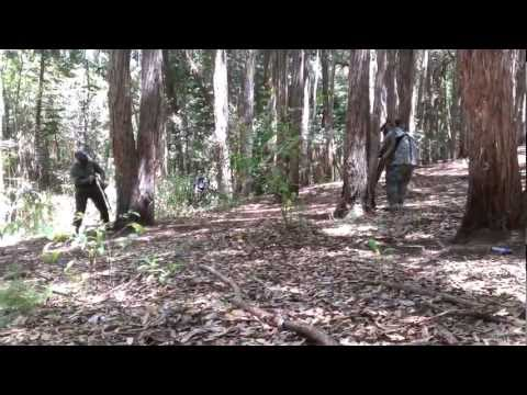 HawaiiPB - Fun in the woods with LTD Paintball. Stock class styles. Raw video from the Evo 4G LTE. Definitely the epic video of the day, including a nutshot and humping.
