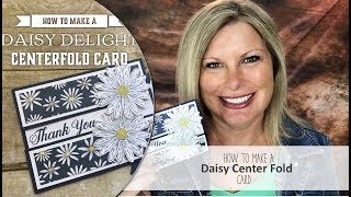 """Free pdf and card details: http://stampwithtami.com/blog/2017/06/daisy-delight/ Facebook Live: https://www.facebook.com/stampwithtami1/I'm so excited that the Stampin Up Daisy Delight Bundle and punch are back in stock and available in my online store. Due to their extreme popularity (and awesomeness) they flew off the shelves the second the new catalog was released and haven't been available again until now.In honor of it's return, I am going to create this gorgeous """"centerfold"""" fun fold daisy card. Designed by Kathie Rotti. It's a quick and easy card to make, perfect for crafters of all levels. IT also features the coordinating Delightful Daisy Designer Paper.Daisy Delight Photopolymer Bundle [145361] - Price: $31.50 - http://msb.im/5h8Daisy Delight Photopolymer Stamp Set [143669] - Price: $17.00 - http://msb.im/5h9Delightful Daisy Designer Series Paper [144137] - Price: $11.00 - http://msb.im/5hAWhisper White 8-1/2"""" X 11"""" Cardstock [100730] - Price: $9.00 - http://msb.im/5hBNight Of Navy 8-1/2"""" X 11"""" Cardstock [100867] - Price: $8.00 - http://msb.im/5hCNight Of Navy Classic Stampin' Pad [126970] - Price: $6.50 - http://msb.im/5hDBrights Stampin' Write Markers [131259] - Price: $29.00 - http://msb.im/5hEDaisy Punch [143713] - Price: $18.00 - http://msb.im/5hFStampin' Trimmer [126889] - Price: $30.00 - http://msb.im/5hGSnail Adhesive [104332] - Price: $7.00 - http://msb.im/5hHBe sure to join my social media Tami WhiteStampin' Up! Independent Demonstrator✪ STAY CONNECTED ✪Blog: http://www.stampwithtami.com Facebook: http://www.facebook.com/stampwithtami1 Pinterest: http://www.pinterest.com/stampwithtamiPeriscope: https://periscope.tv/stampwithtamiTwitter: http://twitter.com/stampwithtami Weekly Newsletter: http://ow.ly/Vp8eb Bloglovin: https://www.bloglovin.com/blogs/stamp-with-tami-3137650"""