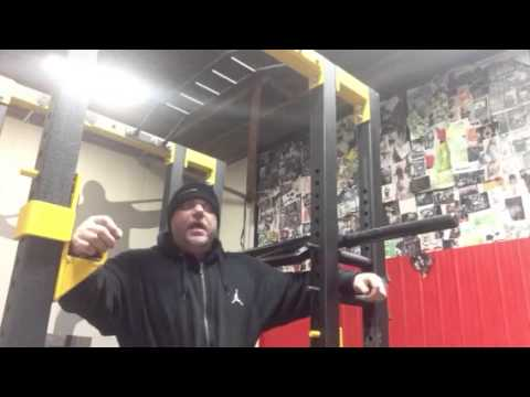elitefts - Dave Tate demonstrates lat activation with the Elitefts ISO Power Rack in order to help stabilize the shoulder. MORE ON THE Elitefts ISO POWER RACK ATTAC...