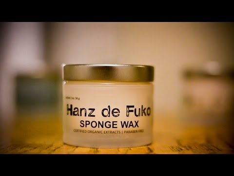 Men's Hairstyle/Hair tutorial: Hanz de Fuko Sponge Wax (product review)