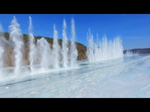 Amurfluss in China: Spektakuläre Eissprengung