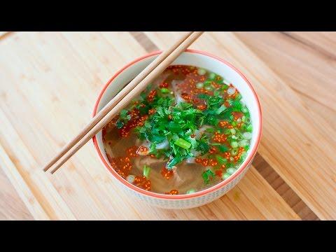 noodle soup cinese con carne - ricetta