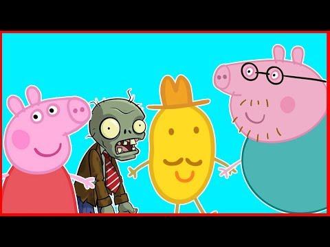 Peppa Pig en español - Peppa Pig en Español  productos del señor Potato  episodio 93  Peppa y Zombie
