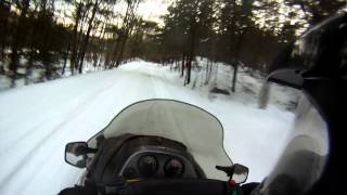 5. 2002 Arctic Cat ZL 600 EFI and 2001 Polaris Indy 700 Classic Fast Trail Riding