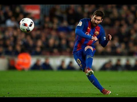 Барселона Атлетик Бильбао 3:1 Гол Месси со штрафного