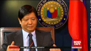 News Cafe gets into the mind of Senator Bongbong Marcos. We talk about the Mamasapano Encounter between the PNP SAF and MILF and how this has affected peace talks, the highlights of his life as a public servant, what it was like growing up in the Marcos family, and lessons learned from the Edsa People Power Revolution. As a musician, Senator Bongbong explains how musical training can make for a better decision-maker.
