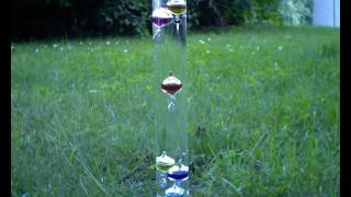 Galileo thermometer time lapse