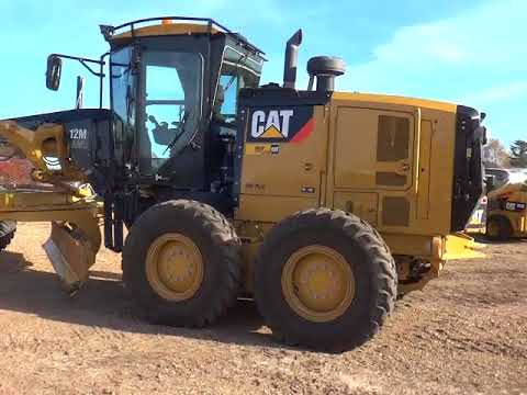 CATERPILLAR MOTOR GRADERS 12M2AWD equipment video 91FFygiKmK4