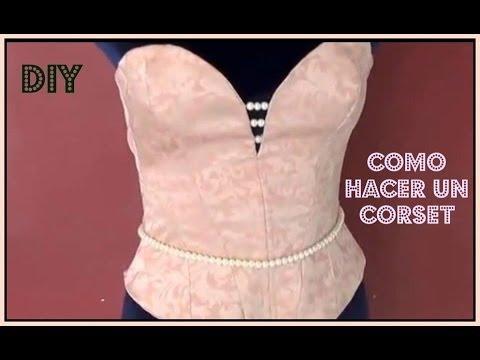 Como Hacer Un Corset --- How To Make A Corset   Trazo Parte I