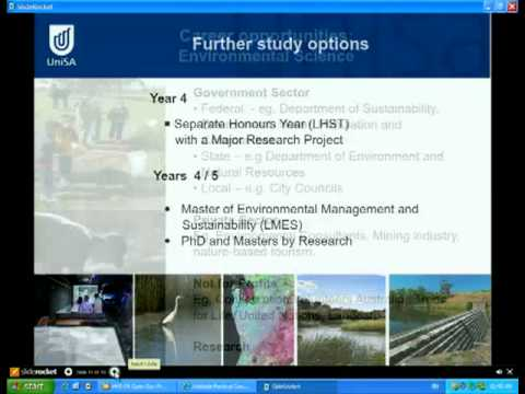 Environmental Science and Geospatial Science - Tag der offenen Tür 2011 - University of South Australia