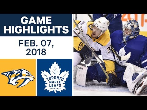 Video: NHL Game Highlights | Predators vs. Maple Leafs - Feb. 7, 2018