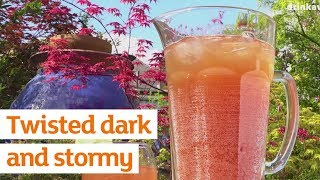 Summer in a tumbler 🌞 Rum, vanilla and ginger beer. See you round at Selasi's 😉 [https://recipes.sainsburys.co.uk/recipes/drinks-and-smoothies/twisted-dark-n-stormy-cocktail]