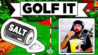 Golf It! - • SO SALTY • DOUBLE RAGE QUIT, JUMP & RUN, HOLE IN ONE (Multiplayer Gameplay Lets Play)