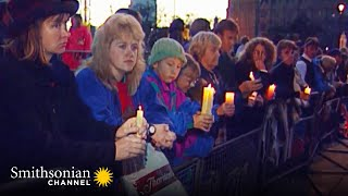 As a single chime from Westminster Abbey rings out on the morning of Princess Diana's funeral, a collective wave of grief grips the...