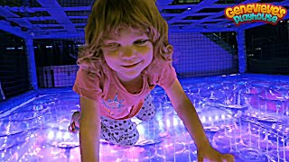 Video Family Fun with Cute Kid Genevieve at the Indoor Playground! MP3, 3GP, MP4, WEBM, AVI, FLV Agustus 2018