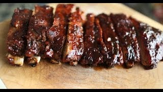 Homemade BBQ sauce?? CHECK. Fall off the bone spare ribs?? DOUBLE CHECK PLUS DOUBLE TAP!! These are so finger lickin' good! Words cannot ...