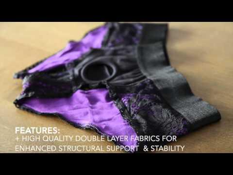 RodeoH Crotchless Panty - Black