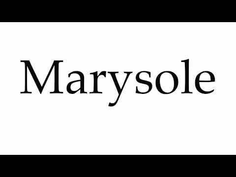 How to Pronounce Marysole (видео)