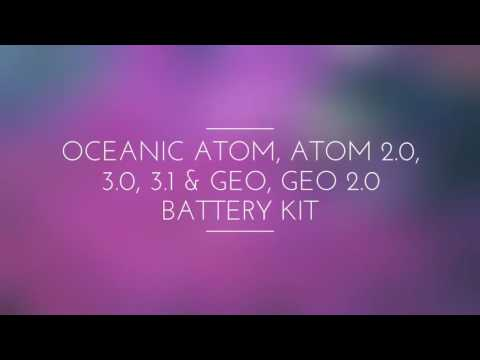 Battery Kit for Oceanic Atom, Atom 2.0, 3.0, 3.1 & Geo