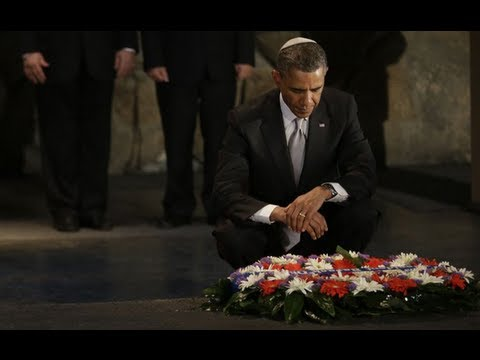President Obama visits holocaust memorial