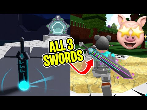 HOW TO GET THE BLUE SWORD OF TRUTH + WEAR ALL 3 RB BATTLES SWORDS.. | Roblox