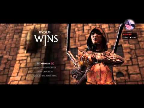 GamerDudePunk (Assassin Kitana) vs HoneyBee (Swarm Queen D'Vorah) (видео)