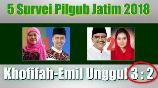 Video 5 Survei di Pilgub Jatim 2018, Elektabilitas Pasangan Khofifah Emil Unggul 3, Gus Ipul Puti Unggul 2 MP3, 3GP, MP4, WEBM, AVI, FLV Juni 2018