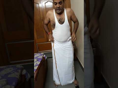 Way to wear a madrasi lungi