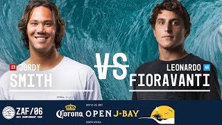 Jordy Smith and Leonardo Fioravanti paddle out in Round Three, Heat 7 at the 2017 Corona Open J-Bay. #WSL #jbay Subscribe to the WSL for more action: ...
