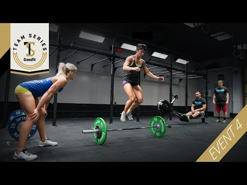 event - The fourth event of the CrossFit Team Series is a chipper, performed as a relay of: 30-calorie row 30 burpees 30 hang cleans Full details at teamseries.crossfit.com The CrossFit Games --...