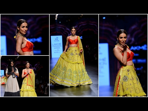 Malaika Arora Khan Walks on Ramp For Divya Reddy At LFW Summer 2017