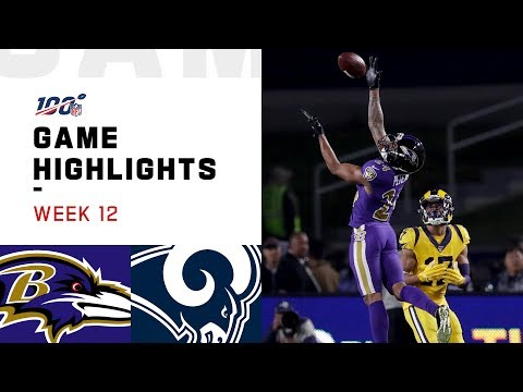 Ravens vs. Rams Week 12 Highlights  NFL 2019