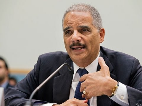 Republican - Attorney General Eric Holder briefly went off-script Wednesday in an appearance at the National Action Network convention in New York City to land another b...