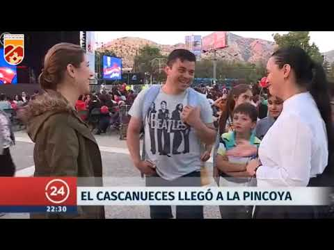 Reportaje sobre la presentación de El Cascanueces que se realizó en la Plaza Cívica de Huechuraba organizado por la municipalidad.